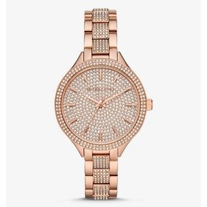 Michael Kors Rose Gold Crystal Watch
